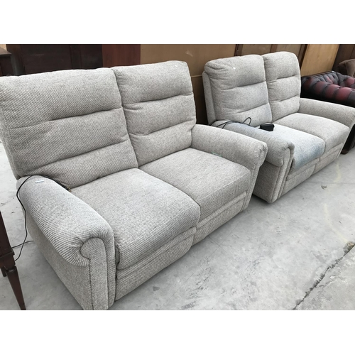 690 - TWO ELECTRIC RECLINING TWO SEATER SOFAS...