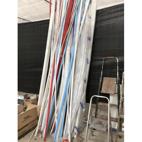 7 - A LARGE QUANTITY OF PLASTIC CABLE TRUNKING...