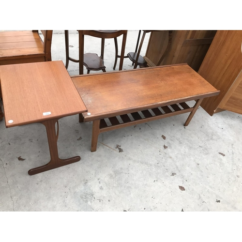 701 - TWO RETRO TEAK TABLES...