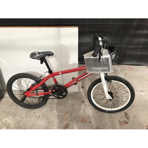 9 - A DIAMONDBACK VIPER BOY'S BMX BICYCLE AND SAFETY HAT...