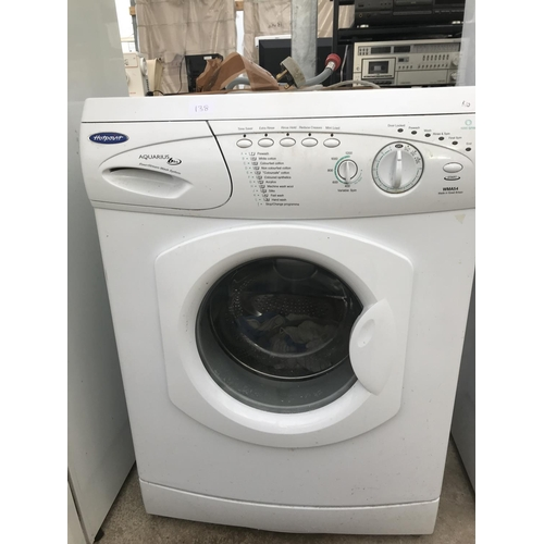138 - A HOTPOINT AQUARIUS WMA54 WASHING MACHINE...