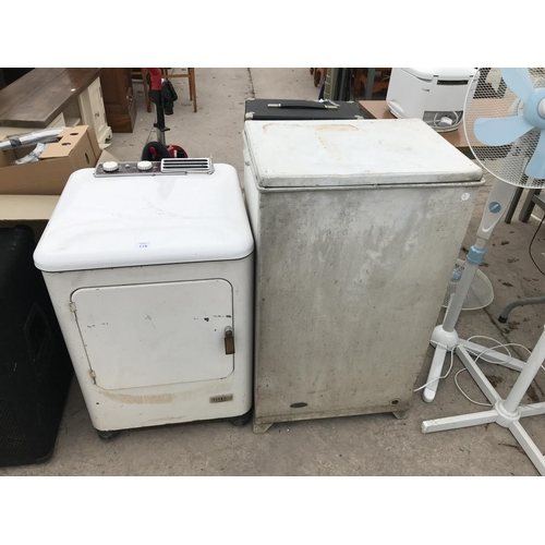 118 - TWO VINTAGE DRYERS...