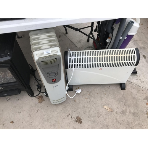 238 - TWO ELECTRIC HEATERS W/O...