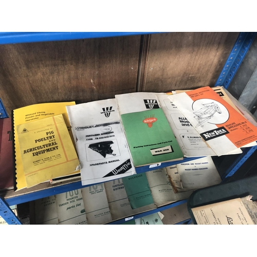 247D - A COLLECTION OF APPROX TWENTY-ONE ASSORTED 'WELGER' TRACTOR / AGRICULTURAL BOOKLETS, SPARE PARTS MAN...