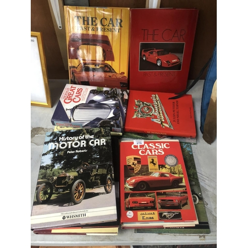 276 - A COLLECTION OF HARD BACK CAR BOOKS TO INCLUDE 'FERRARI' ETC (QTY)...