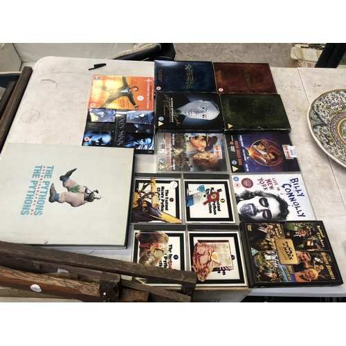 302 - A MIXED COLLECTION OF VARIOUS DVD CASES, FURTHER 'LORD OF THE RINGS' SETS, ETC (QTY)...