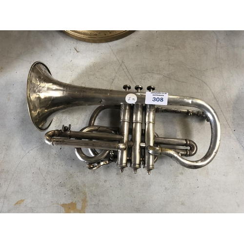 308 - A J.A. FLEUR & SON OF LONDON CORNET...
