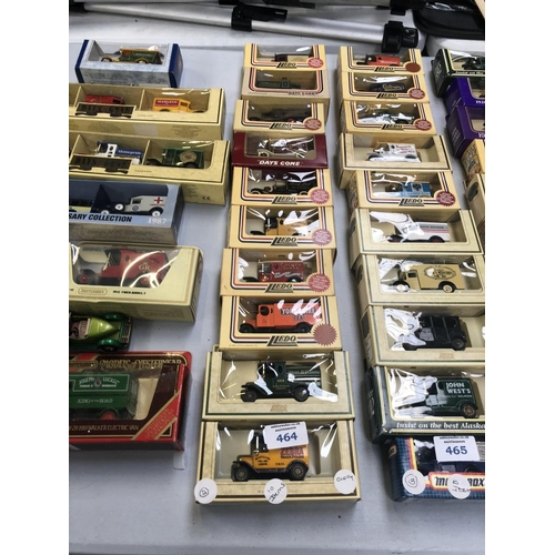 464 - A COLLECTION OF TEN VARIOUS BOXED DIE CAST MODELS TO INCLUDE LLEDO, ETC...