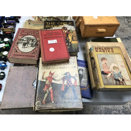470A - A MIXED COLLECTION OF VARIOUS VINTAGE BOOKS TO INCLUDE 'TALES FROM SHAKESPEARE', WITH ILLUSTRATED CO...
