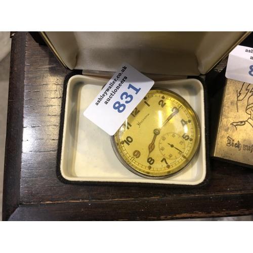 831 - A MILITARY 'HELVETIA' POCKET WATCH...
