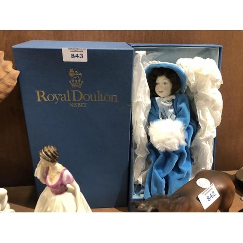 843 - A BOXED ROYAL DOULTON 'NISBET' DOLL FIGURE...