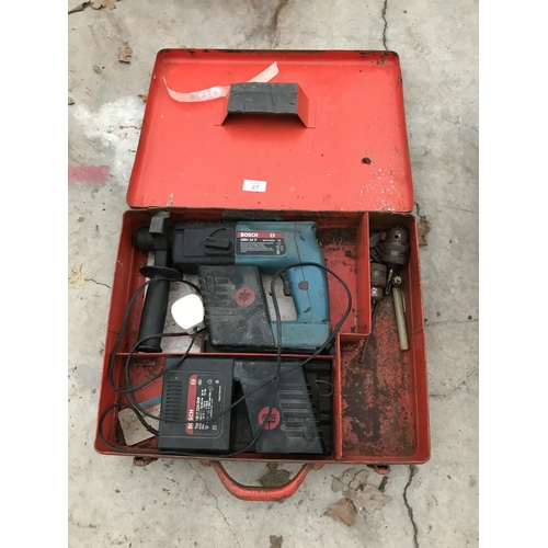 27 - A BOSCH GBH 24V RECHARGABLE DRILL...