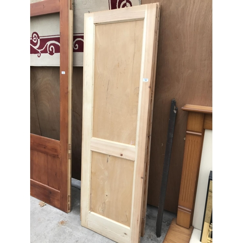 79 - THREE WOODEN DOORS 57CM X 183CM...