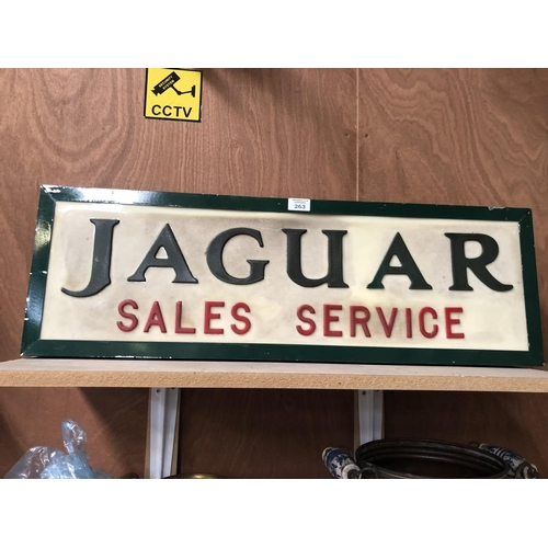 263 - A VINTAGE 'JAGUAR' SALES SERVICE ILLUMINATED SIGN...