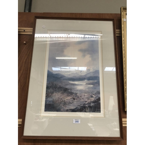 290 - A FRAMED PENCIL SIGNED LIMITED EDITION PRINT BY N. TAYLOR. STONINGTON, 665/750...