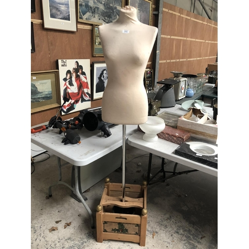 296 - A DRESSMAKERS MANNEQUIN ON STAND...