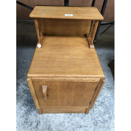 360 - A RETRO 'G-PLAN' E GOMME BEDSIDE WITH SINGLE DOOR...