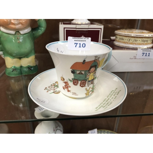 710 - A CERAMIC MABEL LUCIE ATWELL CUP & SAUCER SET...