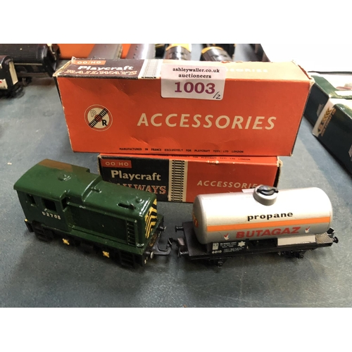 1003 - TWO BOXED 'PLAYCRAFT' OO/HO GAUGE RAILWAY MODELS (2)...