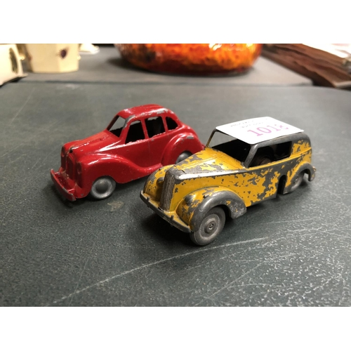 1018 - TWO VINTAGE METAL WIND UP CAR MODELS...