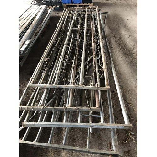 16 - 4 X GALVANIZED FARM GATES...