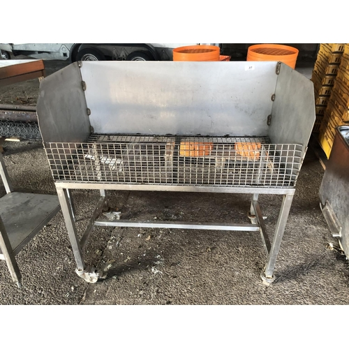 37 - STAINLESS STEEL WELDMESH TROLLEY...