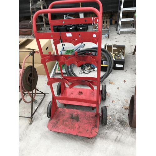 45 - TWO TROLLEYS TO HOLD FIRE EXTINGUISHERS...