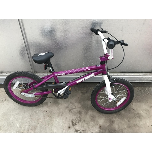 37 - A TONY HAWK NIGHTBIRD CHILDS BIKE...