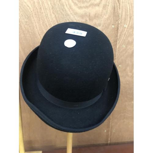 439 - A 'HAWKINS' BOWLER HAT, SIZE 7 1/8...
