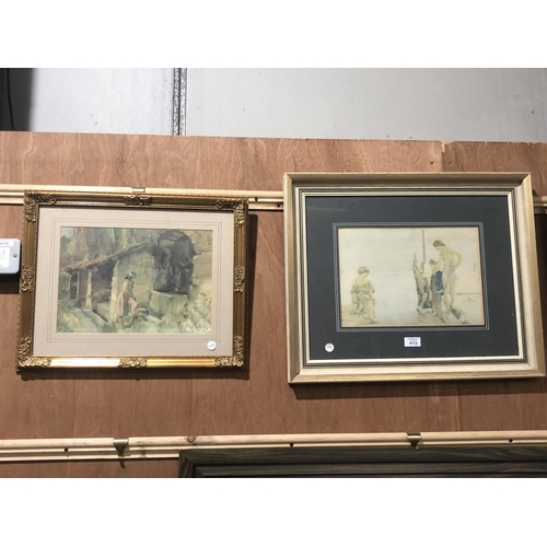 472 - TWO FRAMED SIR WILLIAM RUSSELL FLINT PRINTS, (NOT SIGNED)...