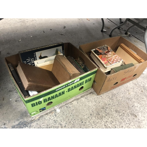 536 - TWO BOXES OF ASSORTED VINTAGE BOOKS...