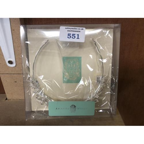 551 - A BOXED 'AMANDA WYATT' TIARA...