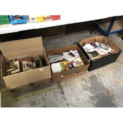564 - THREE BOXES OF VARIOUS BOOKS AND MAGAZINES TO INCLUDE BIRDS, RAILWAY ETC...