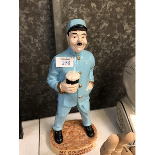 576 - A COLLECTABLE 'GUINNESS' ZOO KEEPER FIGURE...