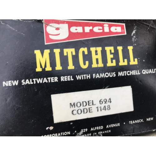 1 - TWO BOXED SEA REELS - A GARCIA MITCHELL 624 AND A PENN LEVELINE STAR DRAG...