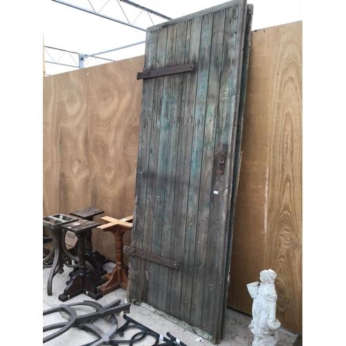 12 - A PAIR OF BARN DOORS/GATES EACH ONE 211CM X 106CM...