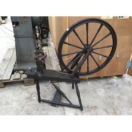 2 - A VINTAGE SPINNING WHEEL...