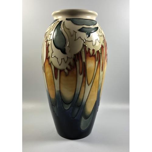 525 - A MOORCROFT POTTERY 'MOON OVER EVENTIDE' PATTERN VASE, HEIGHT 26CM...