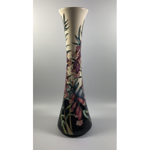 554 - A LIMITED EDITION MOORCROFT POTTERY 'VANGUARD' PATTERN VASE, HEIGHT 31CM...