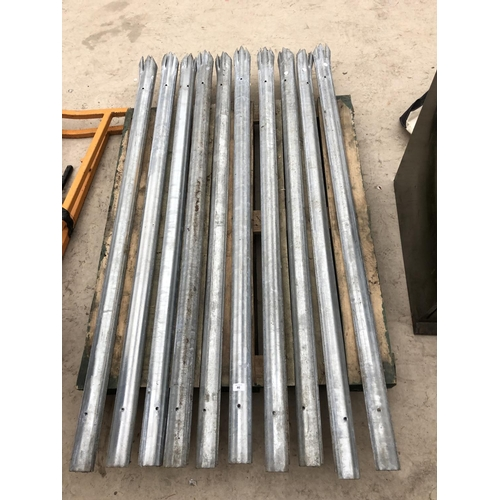46 - FORTY METAL SECURITY FENCE STAKES...
