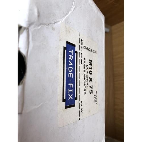 152 - A BOX OF M10 X 75 FRAME ANCHORS ETC...