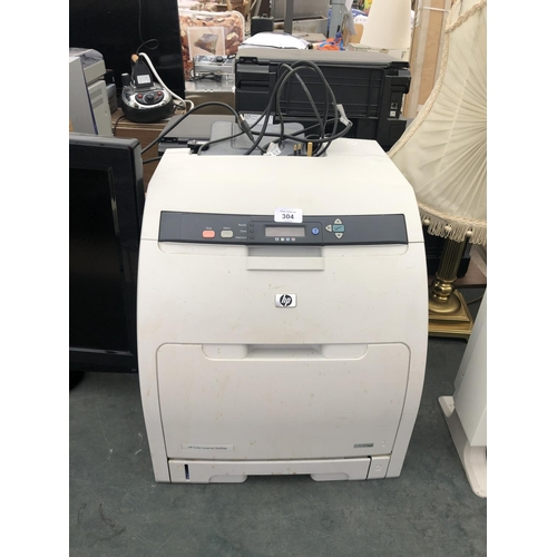 304 - A HP COLOUR LASER JET PRINTER IN WORKING ORDER...
