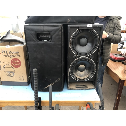 313 - A PAIR OF LFX150 SPEAKERS WITH COVERS...