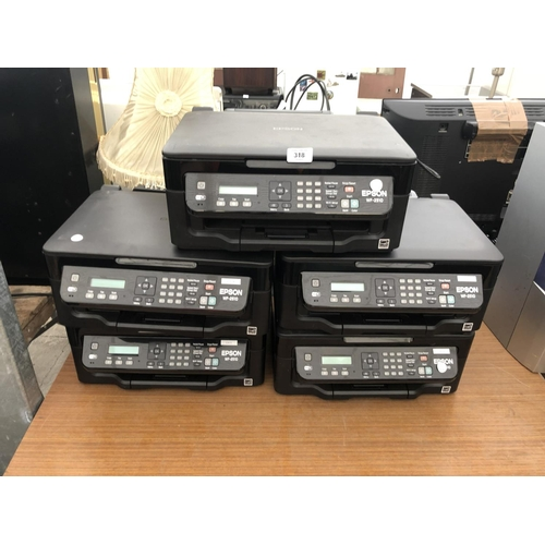 318 - FIVE EPSON WF-2510 PRINTERS IN WORKING ORDER...