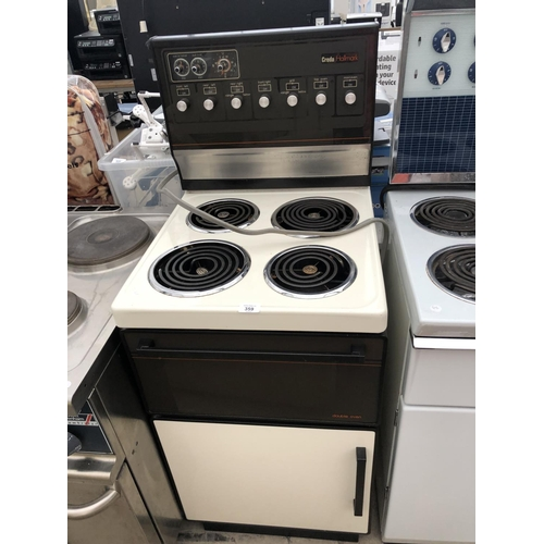 359 - A CREDA HALLMARK DOUBLE OVEN AND FOUR RING HOB...