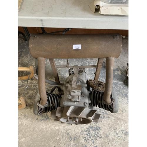 408 - A VINTAGE DOUGLAS MOTORBIKE ENGINE...
