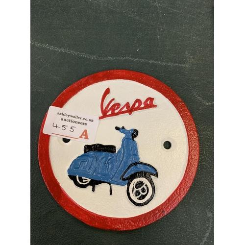 455A - A CAST VESPA SIGN...