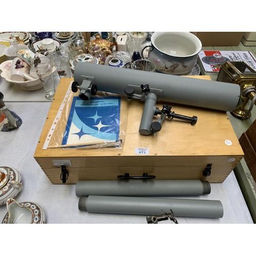 471 - A RUSSIAN CASED AMATEUR ASTRONOMER TELESCOPE SET...
