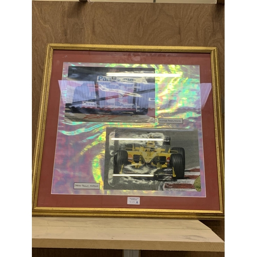 625A - A GILT FRAMED F1 FORMULA ONE RACING PICTURE...