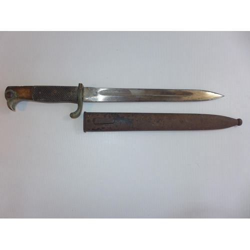 310 - A GERMAN K98 BAYONET AND SCABBARD, 25cm BLADE A/F...